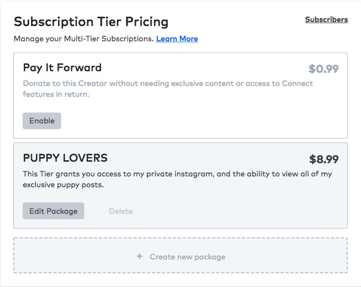How to set up Multi-Tier Subscriptions  – Collide